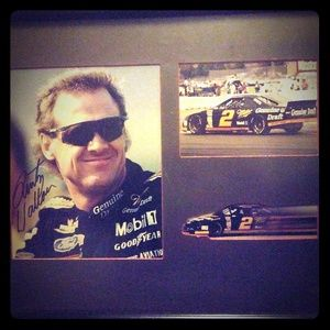 2005 upper deck rusty wallace signed photo